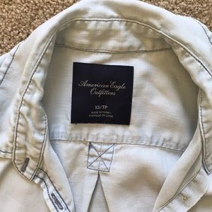 American Eagle Outfitters Tops - American Eagle light wash denim button up
